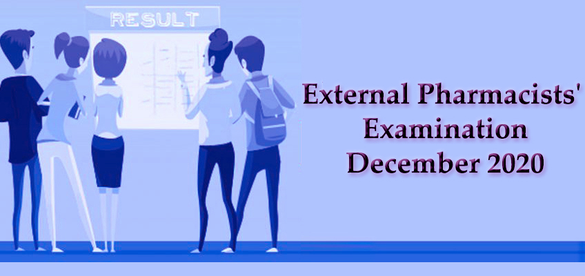 Results Release-External Pharmacists' Examination - December 2020